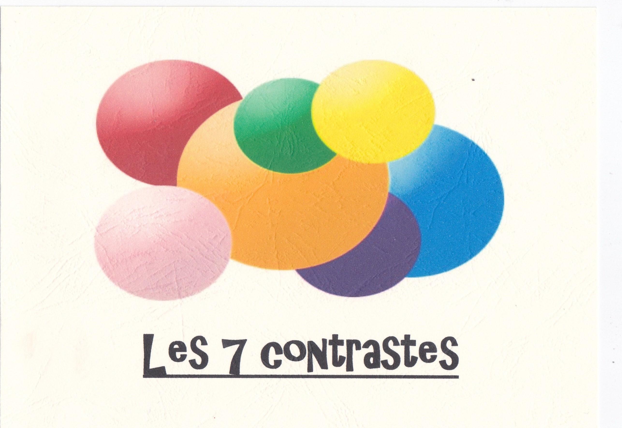 illustration des 7 contrastes colorés